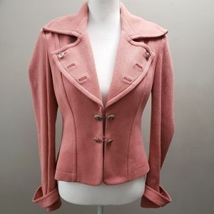 Bebe Knit Pink Blazer M